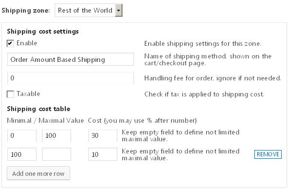 Easy WooCommerce Order Amount Based Shipping - 1