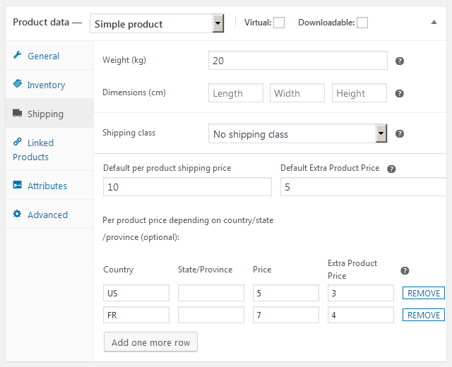 Easy WooCommerce Per Product Shipping - 2